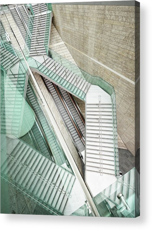 Long Acrylic Print featuring the photograph Reflected Modern Architecture - Winding by Georgeclerk