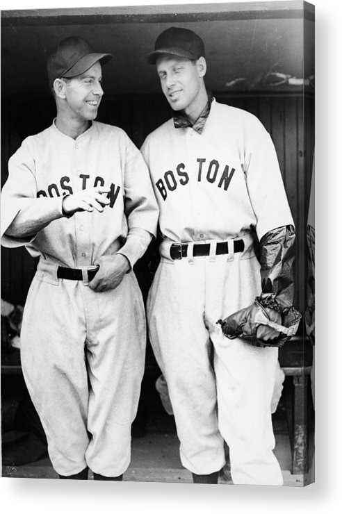 Plan Acrylic Print featuring the photograph Rick And Wes Ferrell Of The Red Sox by Fpg