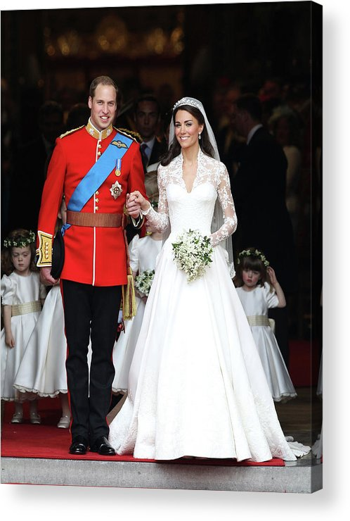 Following Acrylic Print featuring the photograph Royal Wedding - Carriage Procession To by Chris Jackson