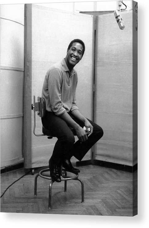 Sam Cooke - Singer Acrylic Print featuring the photograph Sam Cooke In The Studio by Michael Ochs Archives