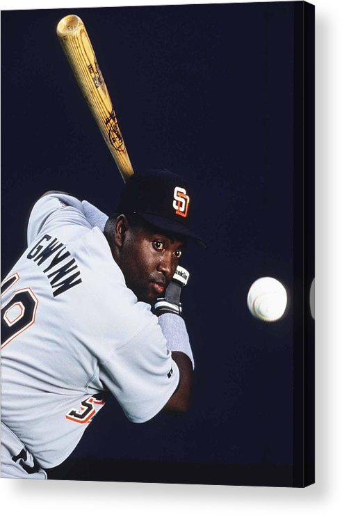 Tony Gwynn Sr. Acrylic Print featuring the photograph San Diego Padres by Ronald C. Modra/sports Imagery