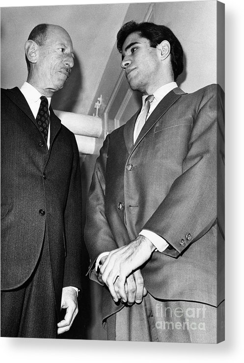 Lawyer Acrylic Print featuring the photograph Sirhan Sirhan With Lawyer by Bettmann