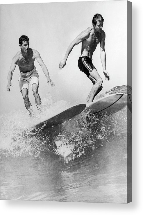 Australia Acrylic Print featuring the photograph Surf Board With Super-slick 1961 by Keystone-france