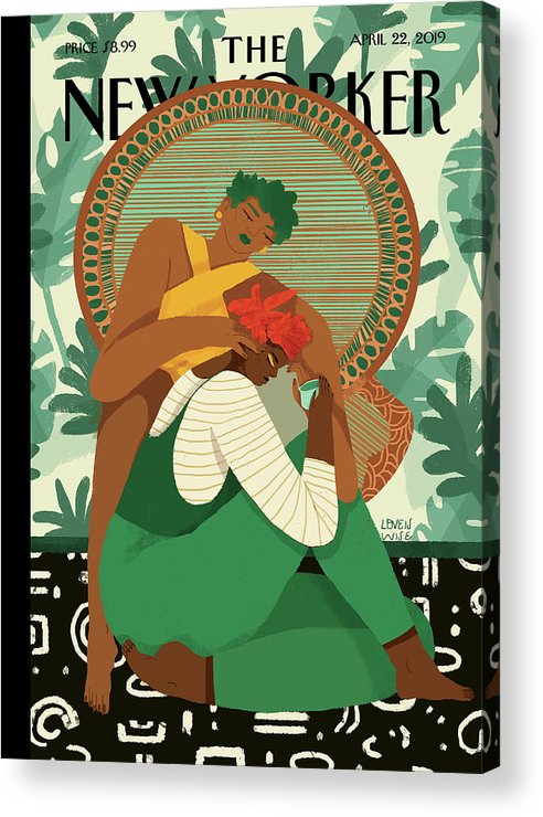 Wise Woman Acrylic Print featuring the painting Taking Care by Loveis Wise