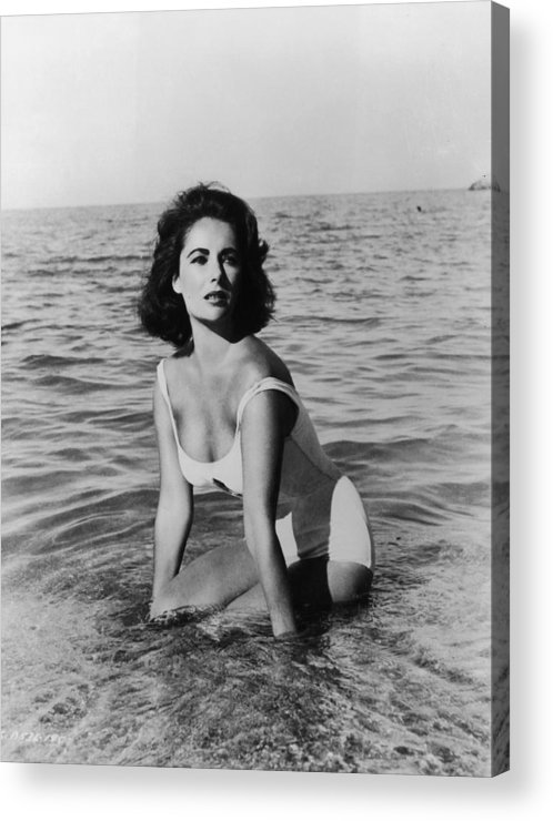 Director Acrylic Print featuring the photograph Taylor In Surf by Hulton Archive