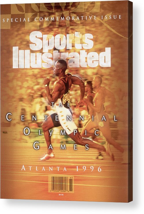 Atlanta Acrylic Print featuring the photograph Usa Michael Johnson, 1996 Summer Olympics Sports Illustrated Cover by Sports Illustrated