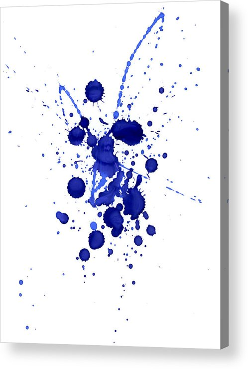 Watercolor Painting Acrylic Print featuring the photograph Violet Splashes by Alenchi