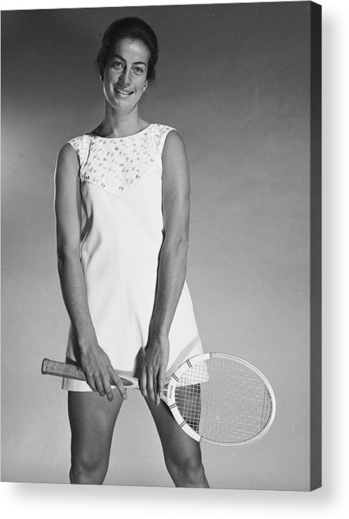 Tennis Acrylic Print featuring the photograph Virginia Wade by Chaloner Woods