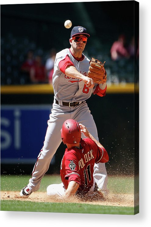Double Play Acrylic Print featuring the photograph A. J. Pollock by Christian Petersen
