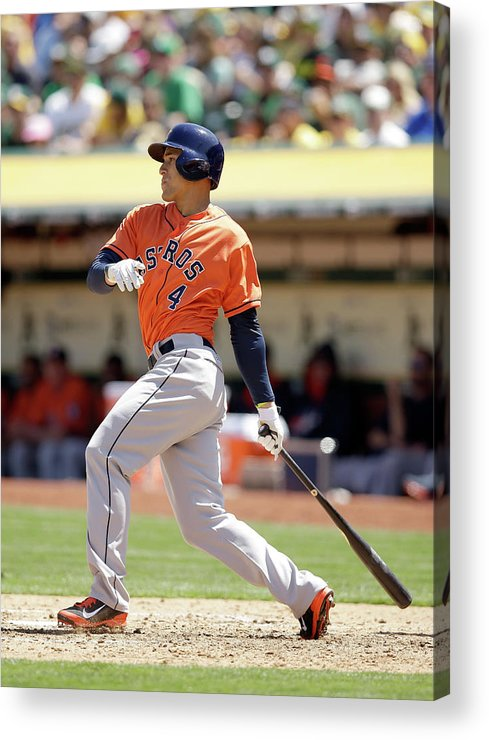 American League Baseball Acrylic Print featuring the photograph George Springer by Ezra Shaw