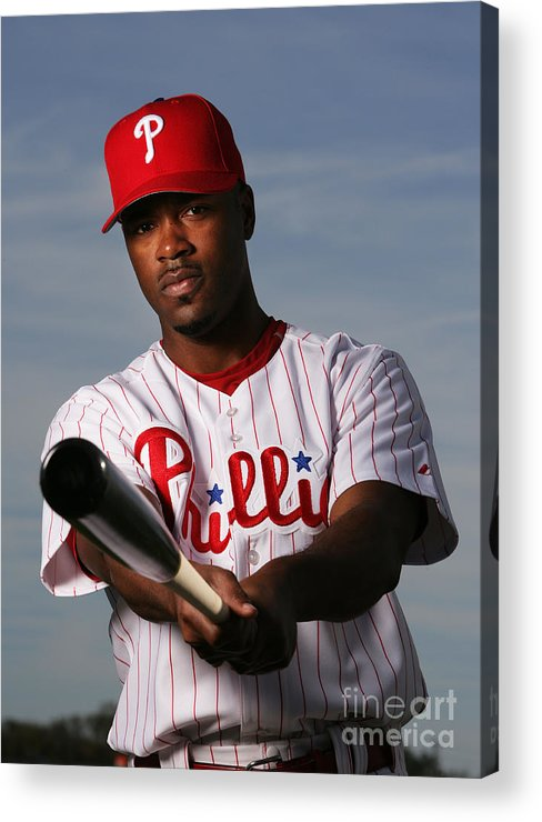 Media Day Acrylic Print featuring the photograph Jimmy Rollins by Al Bello
