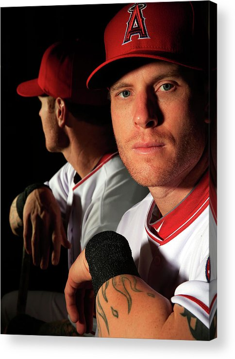 Media Day Acrylic Print featuring the photograph Josh Hamilton by Jamie Squire