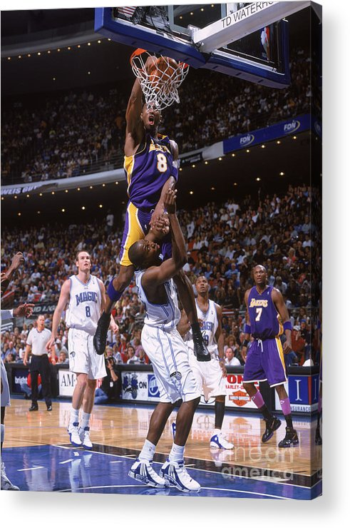 Nba Pro Basketball Acrylic Print featuring the photograph Kobe Bryant and Dwight Howard by Fernando Medina