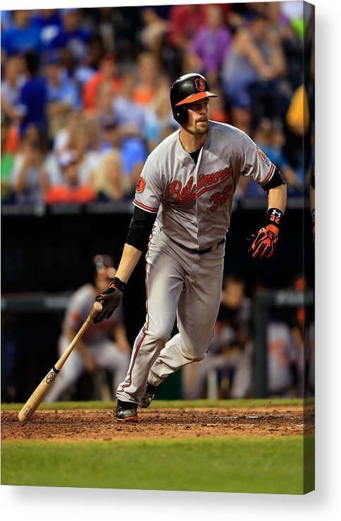 American League Baseball Acrylic Print featuring the photograph Matt Wieters by Jamie Squire