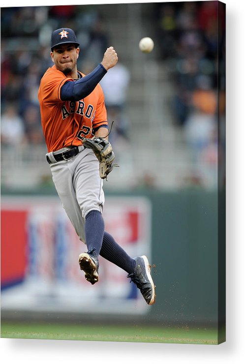 American League Baseball Acrylic Print featuring the photograph Trevor Plouffe by Hannah Foslien