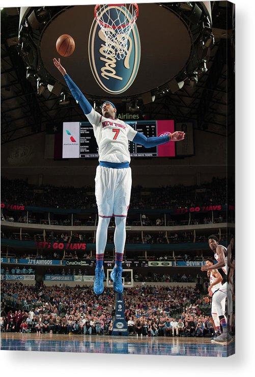Nba Pro Basketball Acrylic Print featuring the photograph Carmelo Anthony by Glenn James