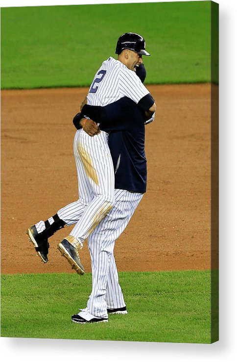 Ninth Inning Acrylic Print featuring the photograph Derek Jeter by Alex Trautwig