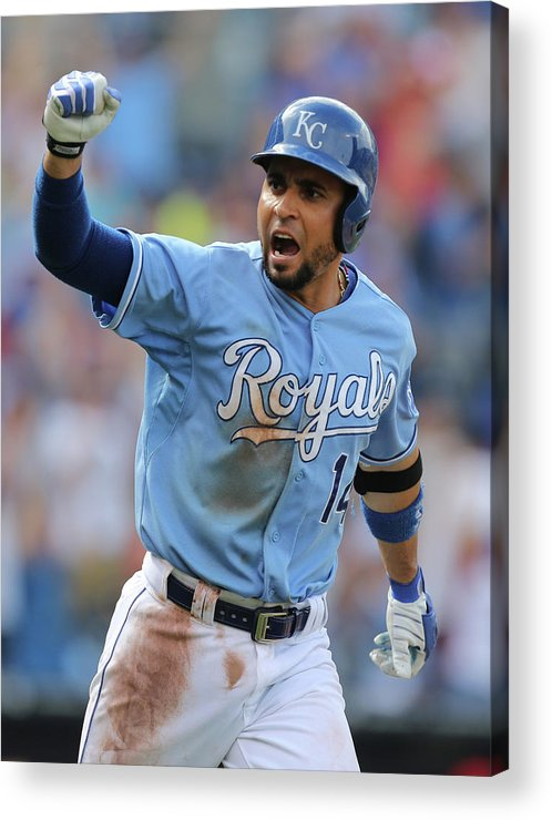 Ninth Inning Acrylic Print featuring the photograph Omar Infante by Ed Zurga