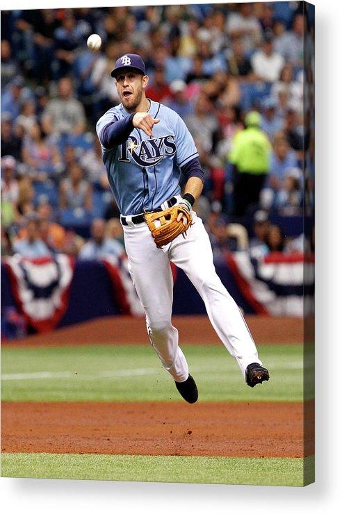 American League Baseball Acrylic Print featuring the photograph Evan Longoria by Brian Blanco