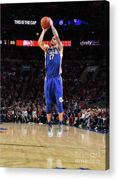 Nba Pro Basketball Acrylic Print featuring the photograph J.j. Redick by Jesse D. Garrabrant
