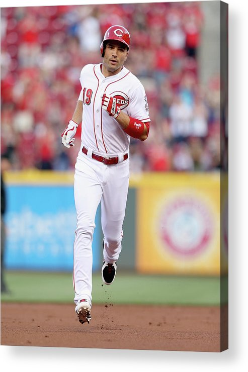 Great American Ball Park Acrylic Print featuring the photograph Joey Votto by Andy Lyons