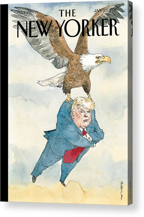 America Acrylic Print featuring the painting A Weight Lifted by Barry Blitt