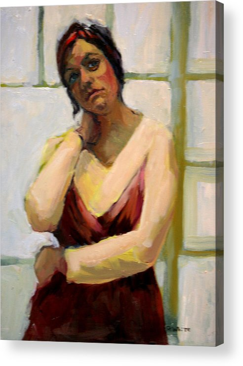 Woman Acrylic Print featuring the painting Amy by Pat White
