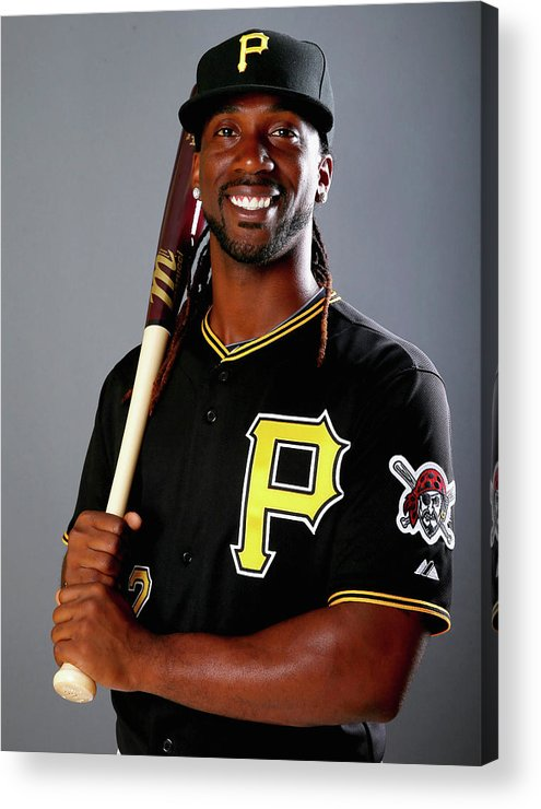 Media Day Acrylic Print featuring the photograph Andrew Mccutchen by Elsa