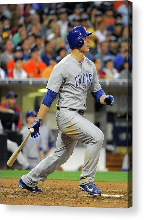 California Acrylic Print featuring the photograph Anthony Rizzo by Denis Poroy