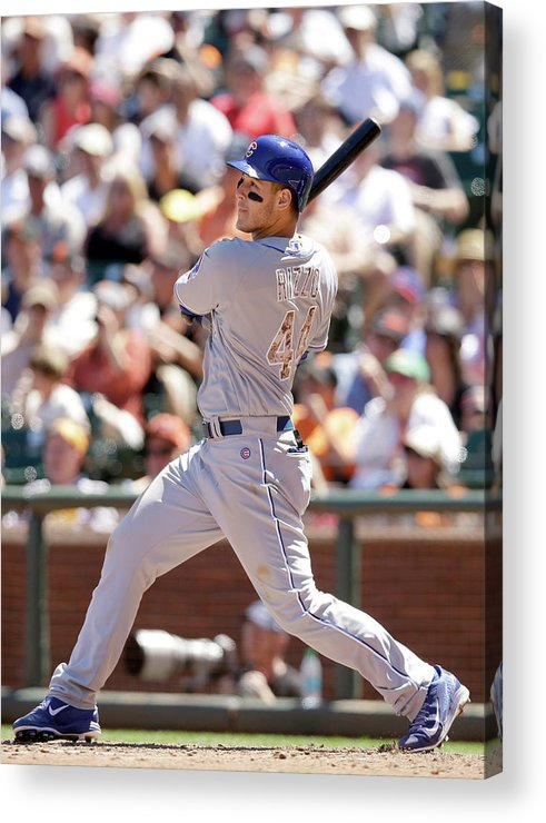 San Francisco Acrylic Print featuring the photograph Anthony Rizzo by Ezra Shaw
