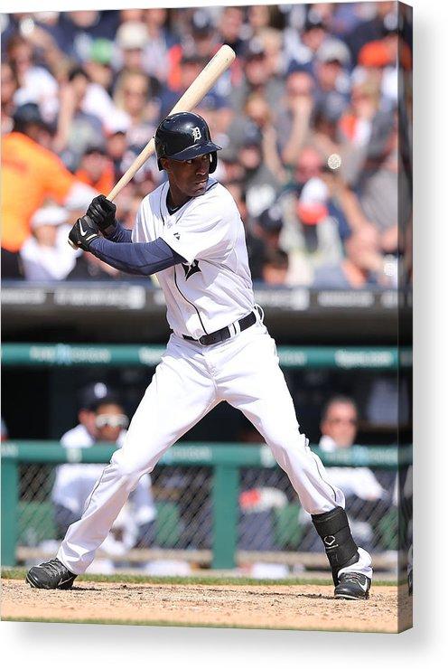 American League Baseball Acrylic Print featuring the photograph Austin Jackson by Leon Halip
