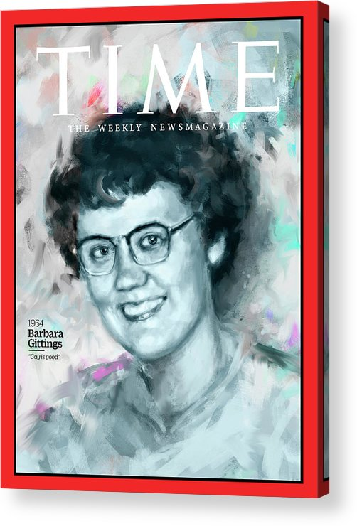Time Acrylic Print featuring the photograph Barbara Gittings, 1964 by Illustration by Ivana Besevic