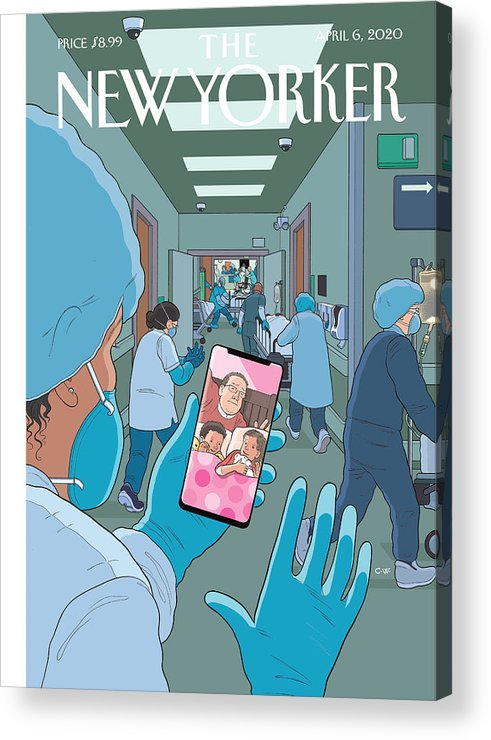 Bedtime Acrylic Print featuring the painting Bedtime by Chris Ware
