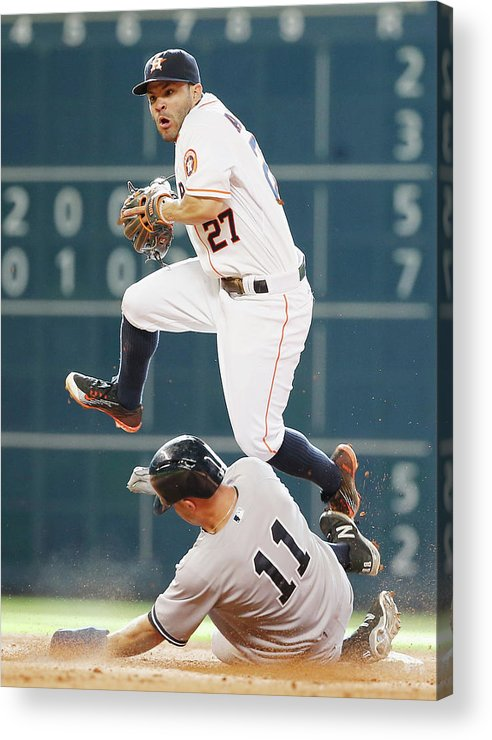 People Acrylic Print featuring the photograph Brett Gardner by Scott Halleran