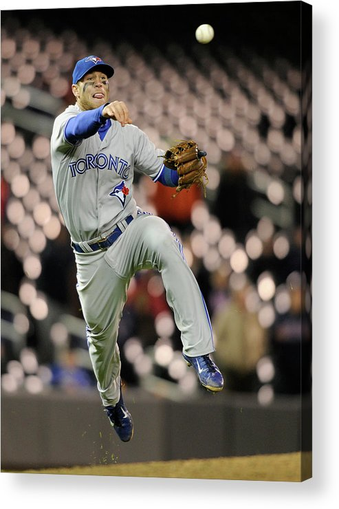 Game Two Acrylic Print featuring the photograph Brett Lawrie by Brian Blanco