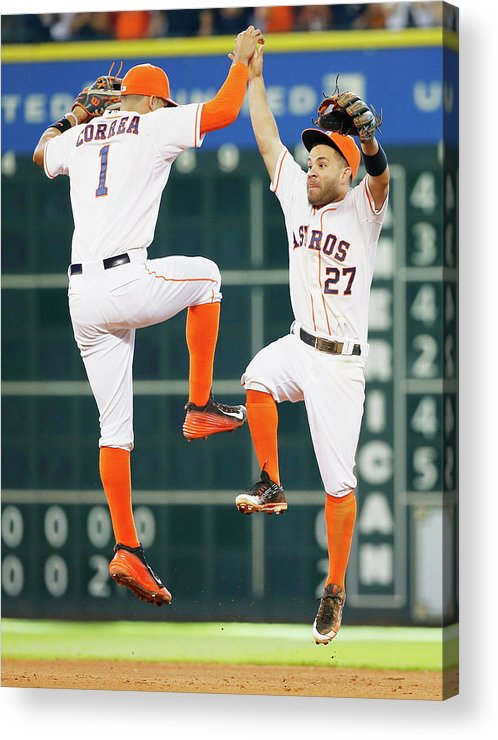 People Acrylic Print featuring the photograph Carlos Correa by Scott Halleran