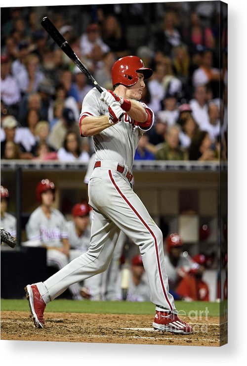 People Acrylic Print featuring the photograph Chase Utley by Denis Poroy