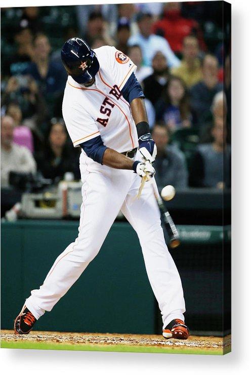 American League Baseball Acrylic Print featuring the photograph Chris Carter by Scott Halleran