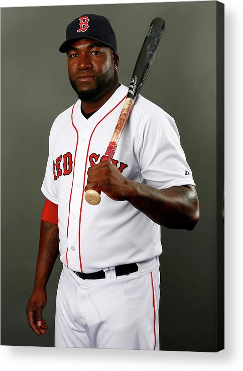 Media Day Acrylic Print featuring the photograph David Ortiz by Elsa