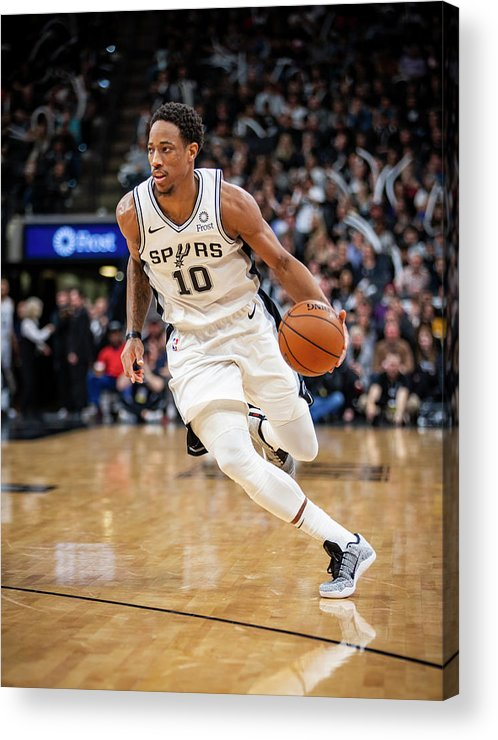 Nba Pro Basketball Acrylic Print featuring the photograph Demar Derozan by Zach Beeker