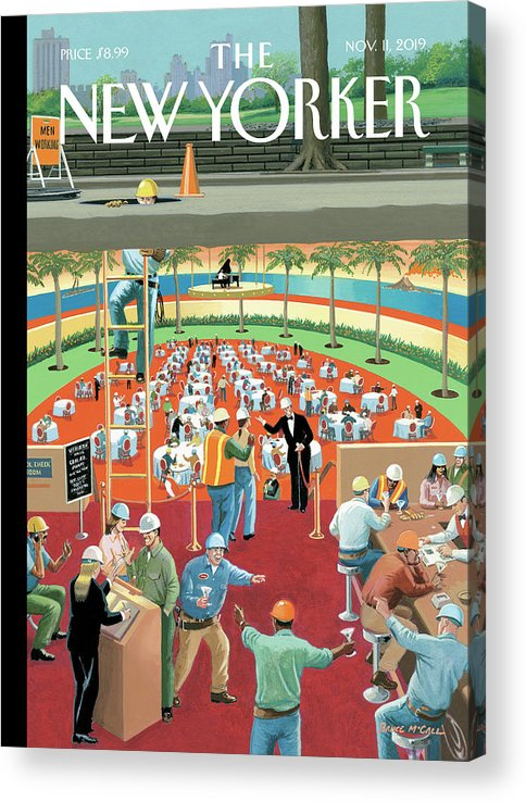 Down The Hatch Acrylic Print featuring the painting Down the Hatch by Bruce McCall