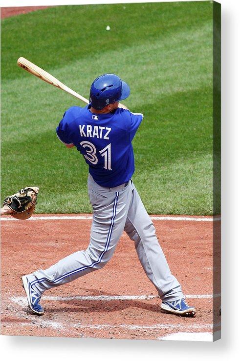 Professional Sport Acrylic Print featuring the photograph Erik Kratz by Justin K. Aller