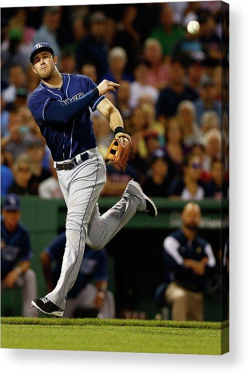 American League Baseball Acrylic Print featuring the photograph Evan Longoria by Jared Wickerham