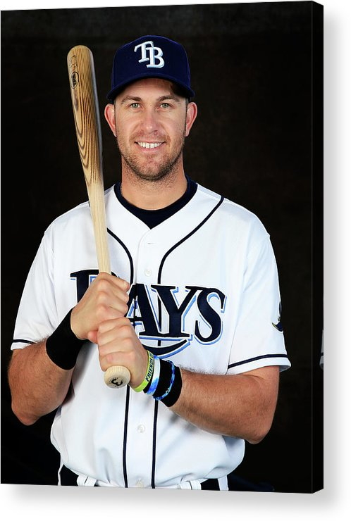 Media Day Acrylic Print featuring the photograph Evan Longoria by Rob Carr