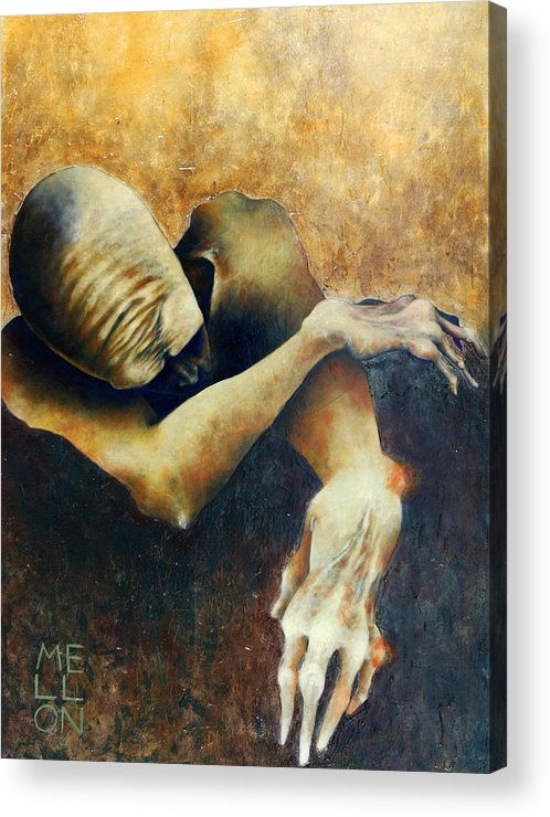 Figure Acrylic Print featuring the painting Figure Five by Mark M Mellon