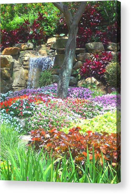 Garden Acrylic Print featuring the photograph Floral Garden by Pharris Art
