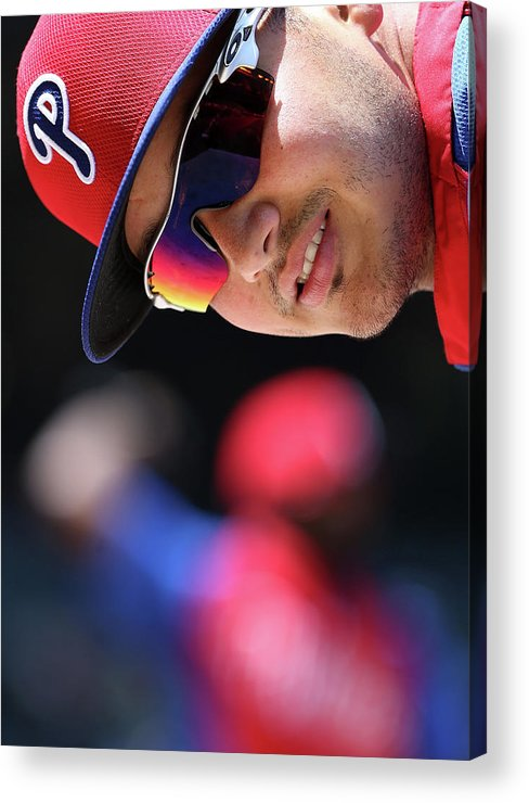 National League Baseball Acrylic Print featuring the photograph Freddy Galvis by Christian Petersen
