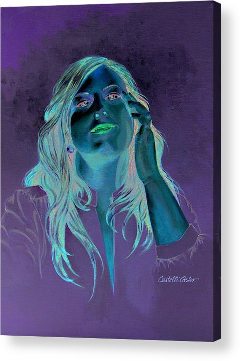 Portrait Acrylic Print featuring the painting Gena by JoAnne Castelli Castor