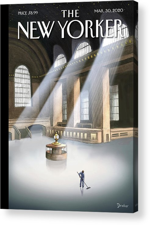 Grand Central Terminal Acrylic Print featuring the painting Grand Central Terminal by Eric Drooker