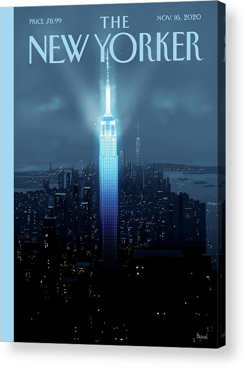 New York Acrylic Print featuring the painting Hope Again by Pascal Campion